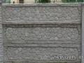 Ogrodzenie betonowe wzór 1