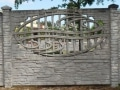 Ogrodzenie betonowe wzór 6